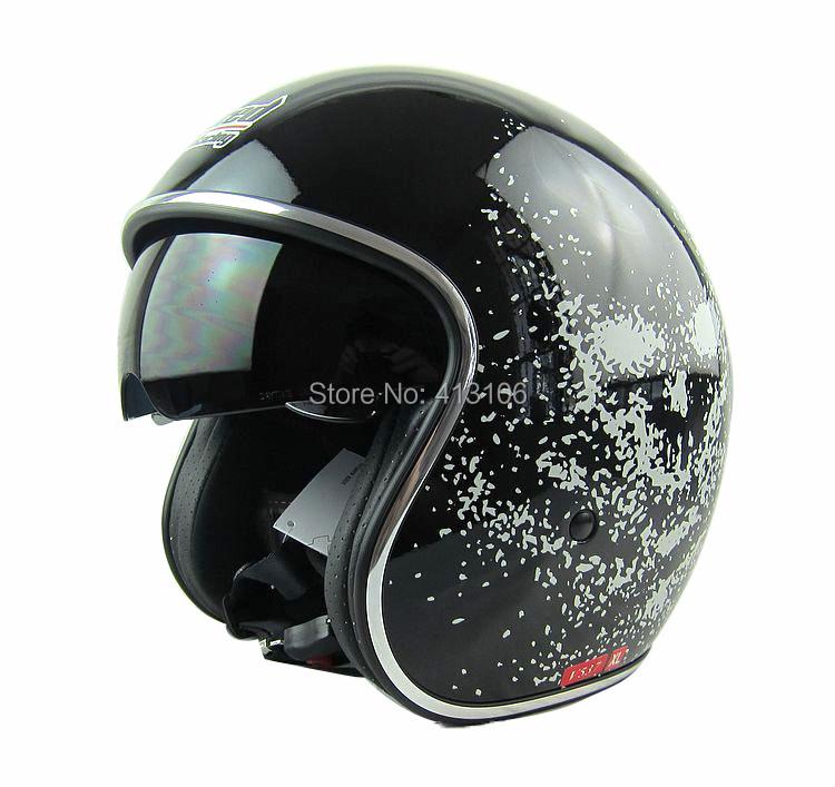 Tanked racing V537 Open face motorcycle helmet Jet vintage retro 3/4 half helmet, inner visor, MOMO style, ECE(China (Mainland))