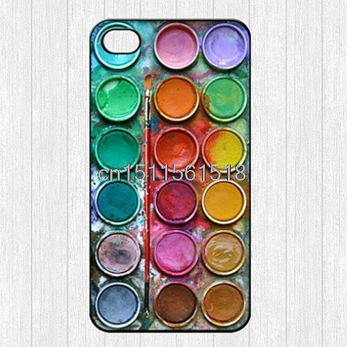 For Iphone 4 4S 5 5S 5C 6 Natural Beautiful Cool Color Paintbox Cartoon Cute Printed Hard Plastic Mobile Protector Case Cover(China (Mainland))