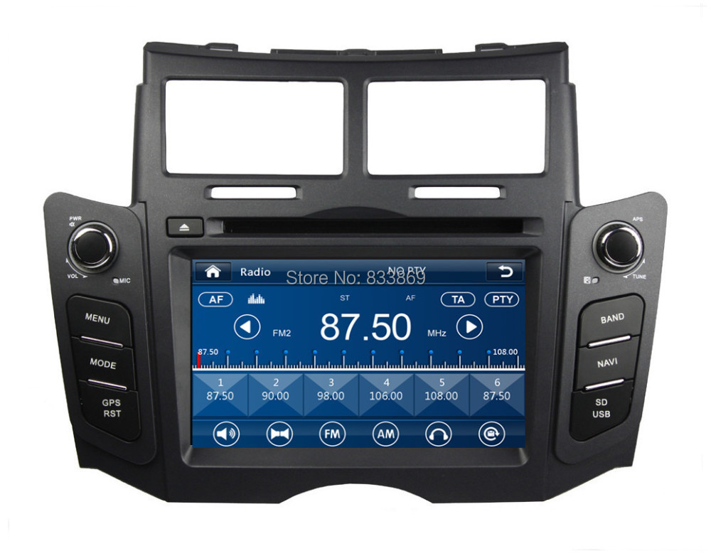 """HD 2 din 6.2"""" Car Radio DVD Player for Toyota YARIS 2005-2011 With GPS Navigation 3G /DVR Bluetooth IPOD TV SWC AUX IN(China (Mainland))"""