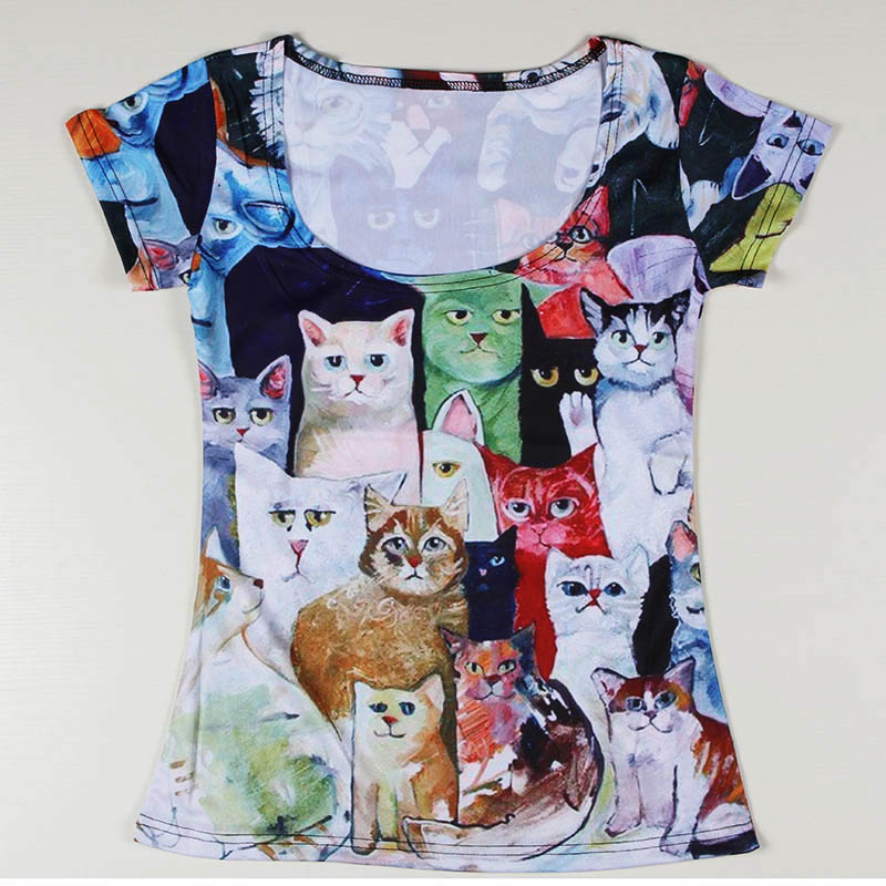 Summer Fashion Marine Benthos 3D T Shirt Short Sleeve Delicious Food Women Tee Shirt Personality Casual Animal Lady T-shirt Одежда и ак�е��уары<br><br><br>Aliexpress