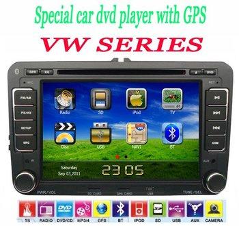 "2DIN indash 7"" Car Audio GPS for Volkswagen Passat GOLF POLO PASSAT CC JETTA TIGUAN TOURAN EOS SHARAN SCIROCCO TRANSPORTER Caddy"