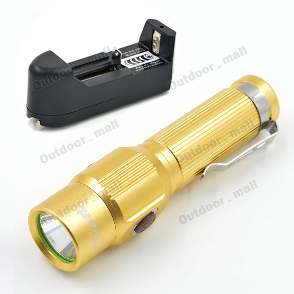 Rechargeable Mini Flashlight Tactical Hunting CREE XM-L LED Torch Waterproof flashlight hiking lamp electric torch(China (Mainland))