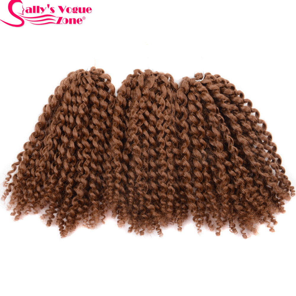 8Inch 3pcsset Crochet Braids Marlybob Hair Synthetic Kinky Twist Curly Crochet Braiding Hair Extensions Jumbo Twist Hair Styles (37)_