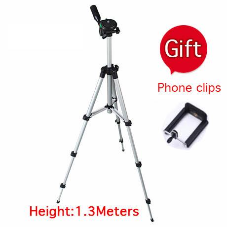 1.3 meters portable digital camera tripod card machine dv projector tripod mobile phone rack(China (Mainland))