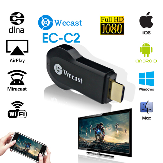 wecast Miracast adapter Dongle mirror cast android mini pc tv stick airplay dlna wireless hdmi as good as ezcast chrome cast 337(China (Mainland))