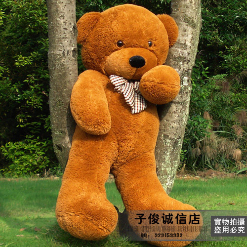 lovely huge bear toy plushed toy cute big eyes bow stuffed bear toy teddy bear birthday gift brown about 80cm(China (Mainland))