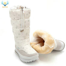 Mùa Đông 2019 cổ Cao Nữ Ủng sang trọng Ấm giày Plus size 35 đến lớn 42 dễ dàng mặc cô gái trắng khóa kéo Giày Nữ Hot Giày(China)