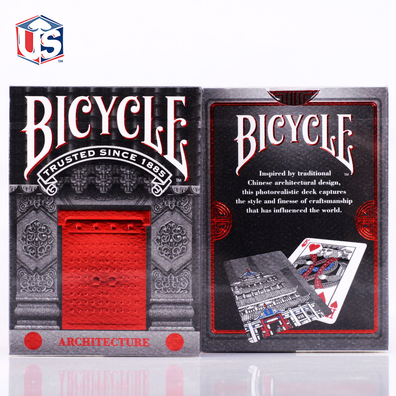 Free Shipping !!! Poker single bicy license plate for cl e for ar for chi tecture quality gold Playing Cards 1pcs/lot(China (Mainland))