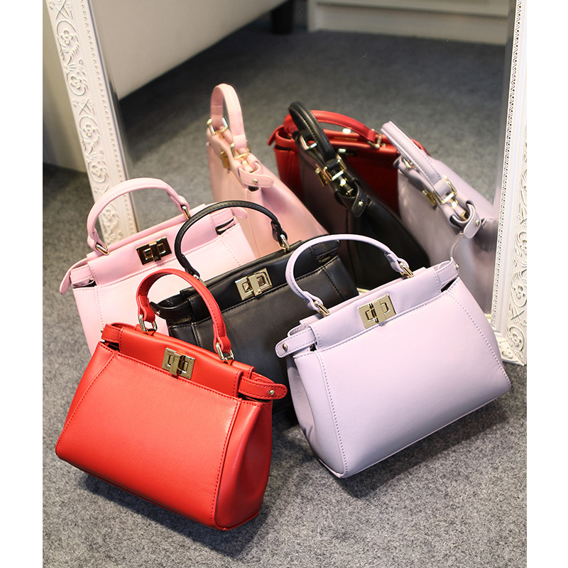 Women Messenger Bag High Quality Pu leather Peekaboo Bag Ladies Women Designer Handbags Shoulder Bag bolsas femininas sac femme(China (Mainland))