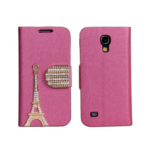 High Quality Retro Style Eiffel Tower Leather Wallet flip Case Cover For Samsung Galaxy S4 Mini i9190  Free Shipping UPS
