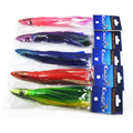 10 pcs Random mixed color Resin head soft octopus skirt With feather bait tackle tuna sea