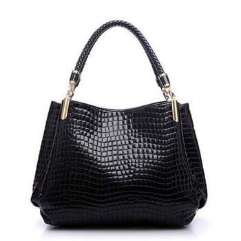 Новый 2015 мода марка кожаные сумки на ремне крокодил женщины Bolsas школьные сумки CC 8