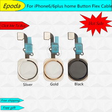 100% Original NEW Home Button Key Flex Cable Ribbon For iPhone 6 4.7″ / 6 Plus 5.5″FREESHIPPING