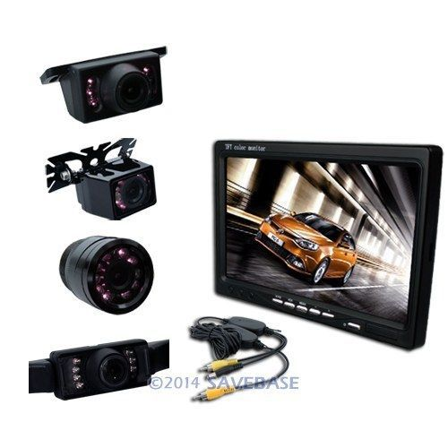 "HOMSECUR Wireless Camera 7"" LCD Monitor Reversing Kit 12V Car/Bus/Truck/Van/Motor Home(China (Mainland))"