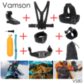 GoPro Accessories Camouflage Shoulder Harness Mount For Gopro Hero 4 3 3+ 2 1 Xiaomi Yi SJCAM SJ4000 SJ5000 Camera VP206