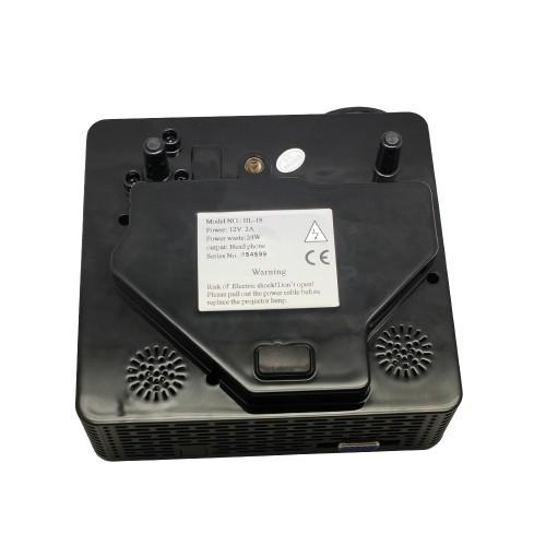 высокое качество 60 люмен мини-проектор поддержки av / vga / usb / sd / hdmi несколько интерфейс prj-bl18