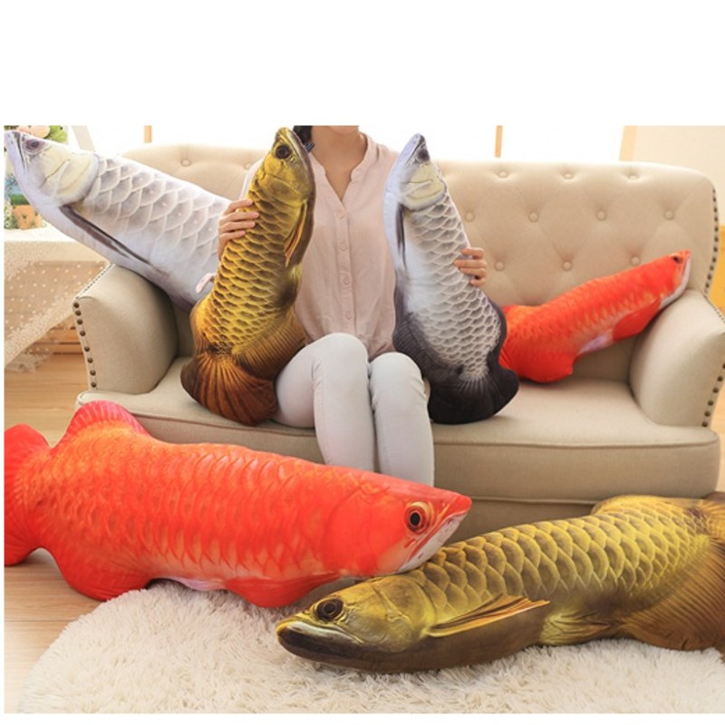 Online get cheap large throw pillows for Fish shaped pillow