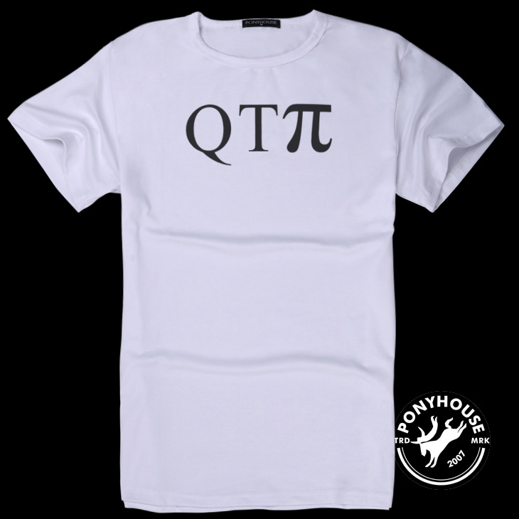 Гаджет  2015H - QTPI LWJ and relaxed leisure patterns of mathematics interesting T-shirt short sleeve male None Изготовление под заказ
