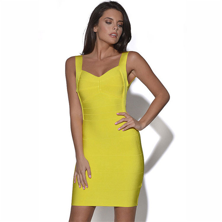 Women Candy Spaghetti Strap Celebrity Bandage Dress Lady Mini Dress Club Wear Cocktail Party Summer Dress hot sale T7005(China (Mainland))