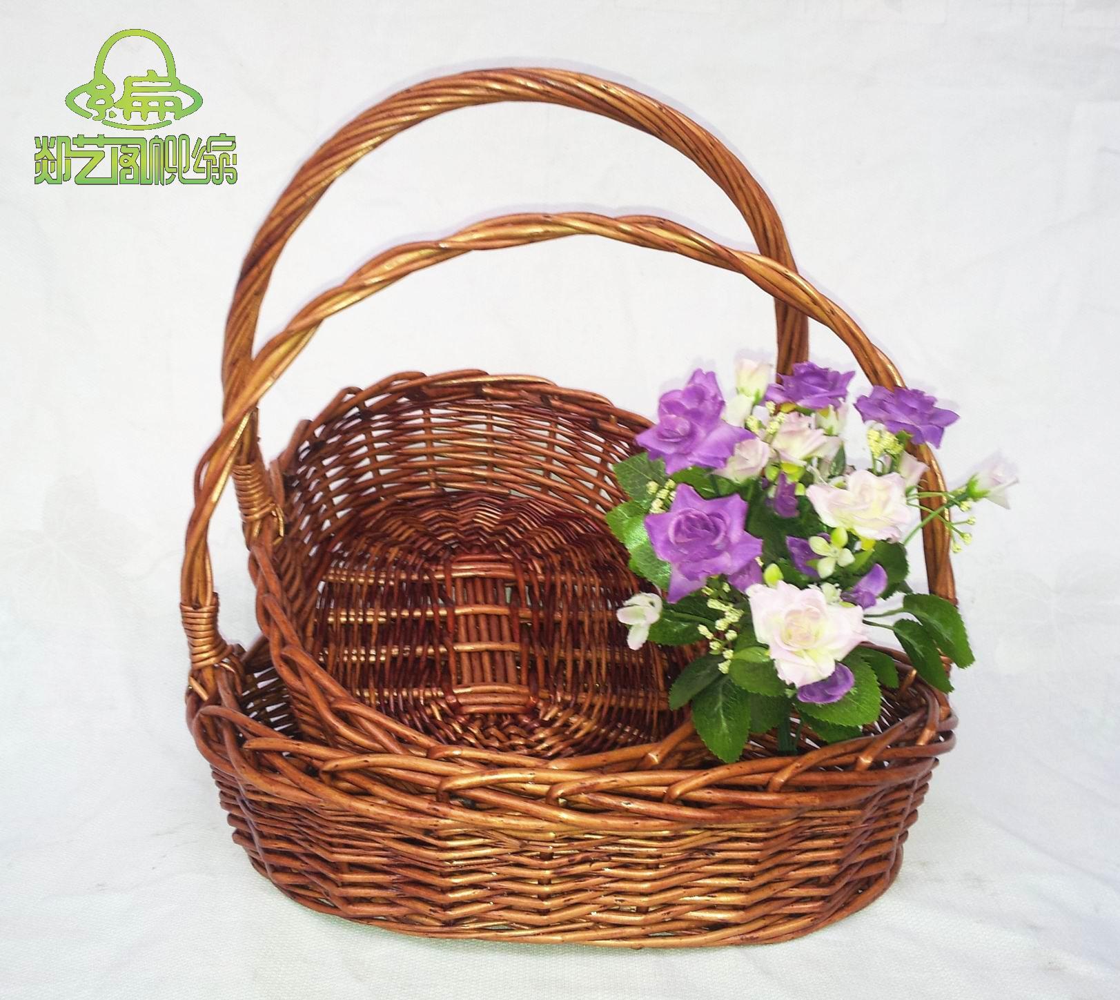 Panier Tressé En Paille De Riz : Willow panier de fruits en rotin tresse paille