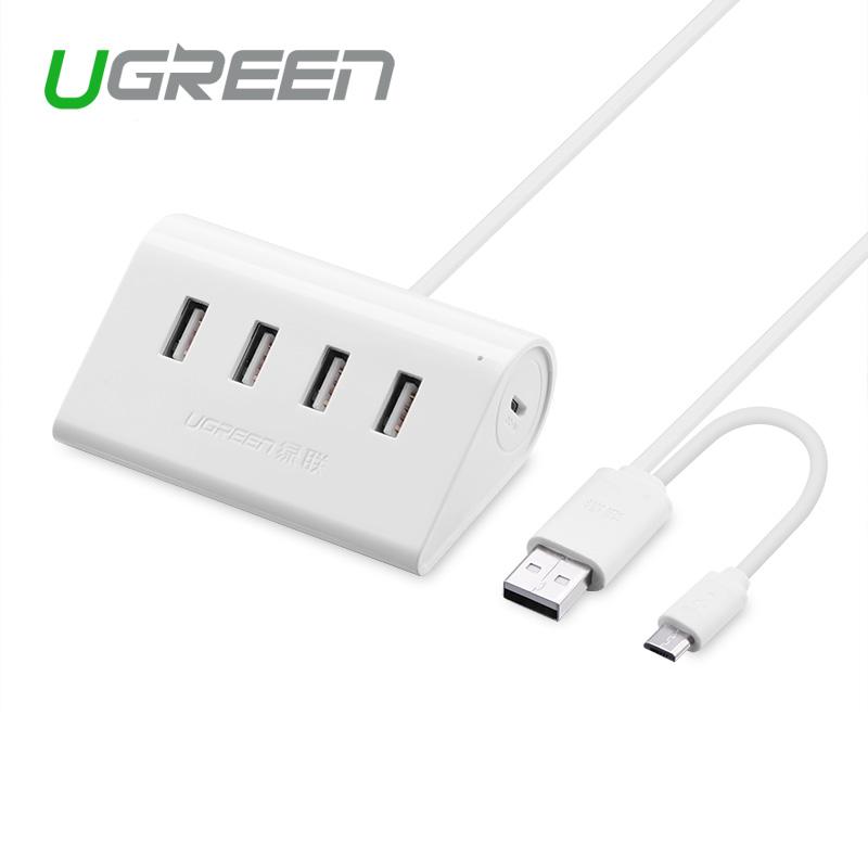 Ugreen HUB USB 2.0 4 Port OTG HUB 80cm high speed USB splitter adapter for laptop cellphone(China (Mainland))