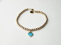 Gurantee 100% 316L Stainless Steel heart beads bracelet & bangle for women OLL318