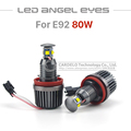 2x 40W H8 LED Cree Chip HID Bulb 6000k Angel Eyes Light For BMW E60 E61