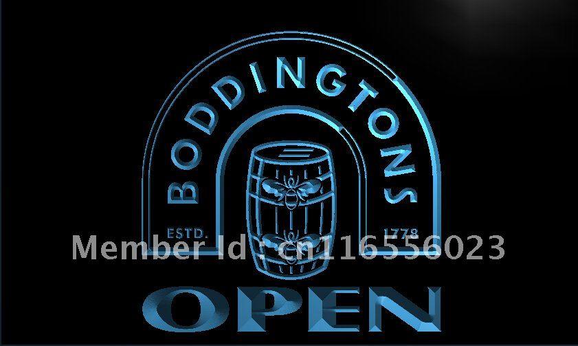 LA662- Boddingtons Beer OPEN Bar LED Neon Light Sign home decor shop crafts(China (Mainland))