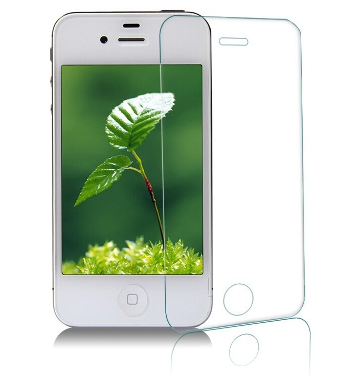 9H tempered glass 0.33mm screen protector For iPhone 4 4S 4G Anti-shatter screen protector glass(China (Mainland))