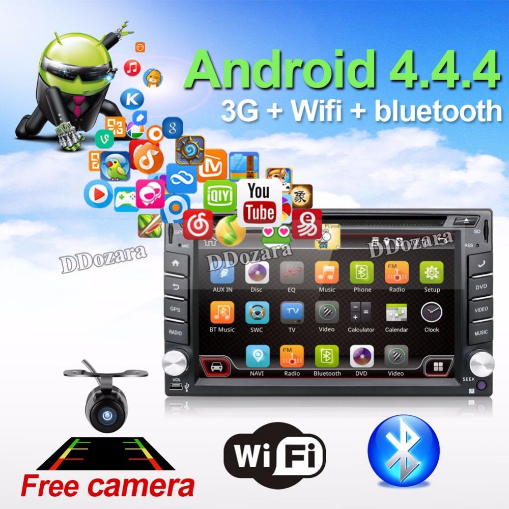 Car Electronic autoradio 2din android 6.0 car dvd player stereo GPS Navigation WIFI+Bluetooth+Radio+1.2G CPU+3G+TV (Option)(China (Mainland))