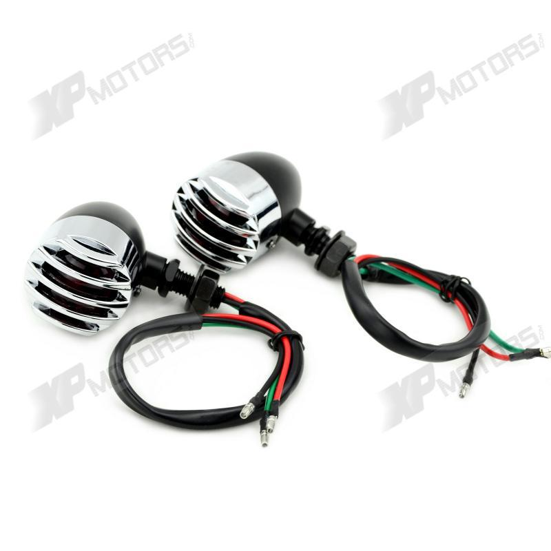 Pair Bullet Style Motorcycle Turn Signals Indicator Universal For Harley Custom Bike<br><br>Aliexpress
