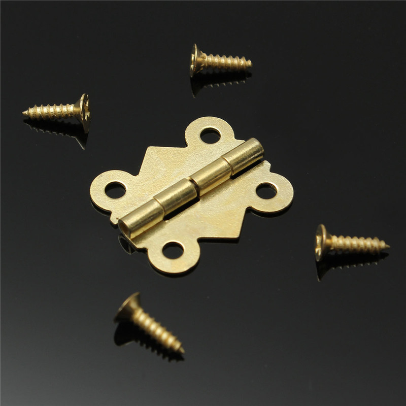 10pcs Fashion Design Brass Color Mini Butterfly Hinges Cabinet Drawer Jewelry Box DIY Repair(China (Mainland))