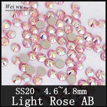 Machine Cut SS20 Light Rose AB Flatback Non Hot Fix Rhinestones China The Best Color!(China (Mainland))
