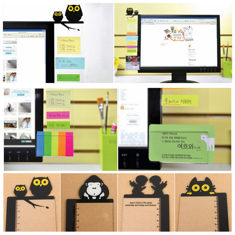 Durable Computer Monitor Screen Transparent Board Sticky Notes Card Photo Holder Suitable For Office Home(China (Mainland))