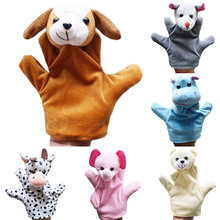 Delicate Baby Child Zoo Farm Animal Hand Glove Puppet Finger Sack Plush Toy 7DKZ(China (Mainland))