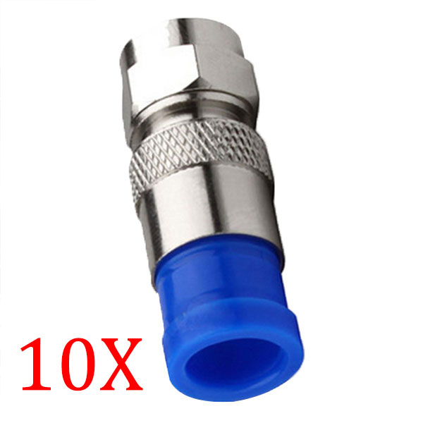 10pcs/ Lot Connector Coax Coaxial Compression Fitting O-Ring F Connectors RG6 Cable Connect TB Sale(China (Mainland))