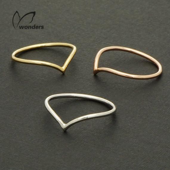 "Гаджет  2014 new Fashion silver ring 18k Wire Chevron Knuckle Rings ""V"" Shape Midi Ring Free Shipping wholesale 10pcs/lot None Ювелирные изделия и часы"