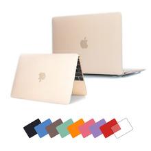 Новый нескольких цветов матовый чехол для Apple macbook Pro Retina 11 12 13 15 ноутбук сумка для Mac книги 11.6 12 13.3 15.4 дюймов