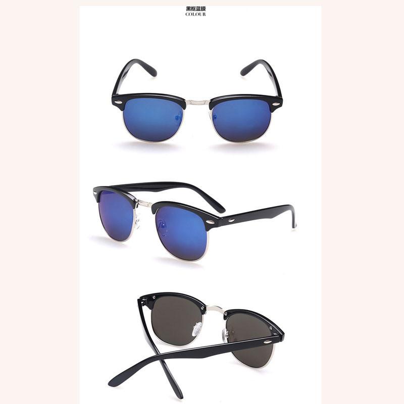 10 Styles Fashion Vintage Sunglasses Retro Cat Eye Semi-Rim Round