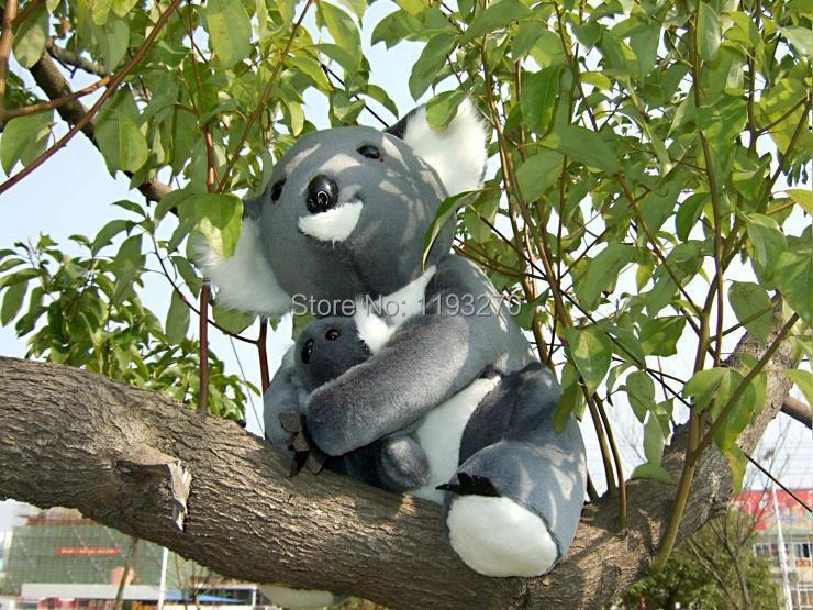 28 cm koala plush toy dark grey koala bear mother& child koala doll gift w5175(China (Mainland))