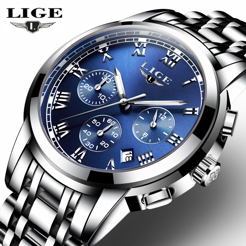 top sport watches promotion shop for promotional top sport watches lige mens watches top brand luxury business quartz watch men stainless steel casual waterproof sport watch relogio masculino