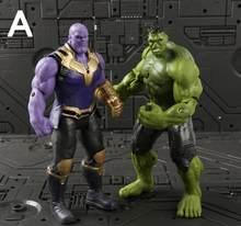 Vingadores 3 Infinito Visão Thanos War Hulk Homem De Ferro Homem Aranha Capitão América Thor Loki PVC Figuras Crianças Brinquedos para Presentes(China)
