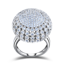Charming Platinum Plated 218 Pieces 2mm Zircon Full Paved Round Shaped Vintage Ring Very Beautiful Ring OR48