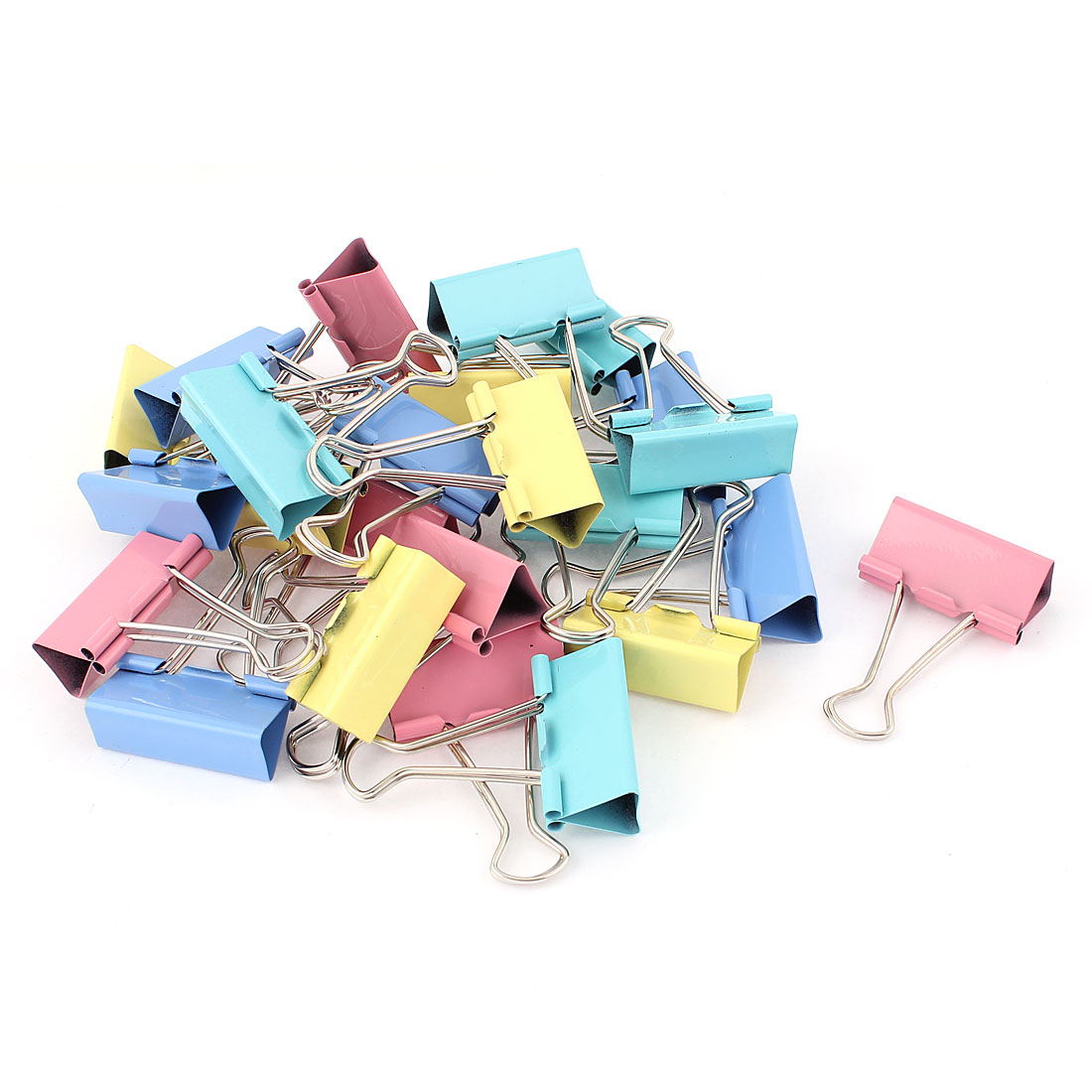School Office Document Organize 41mm Metal Bookbinding Clamp Binder Clips 24pcs<br><br>Aliexpress