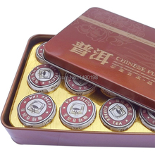 Hot Sale Coffee Flavor Pu er Puerh Tea Chinese Mini Yunnan Shu Ripe Puer Tea Gift