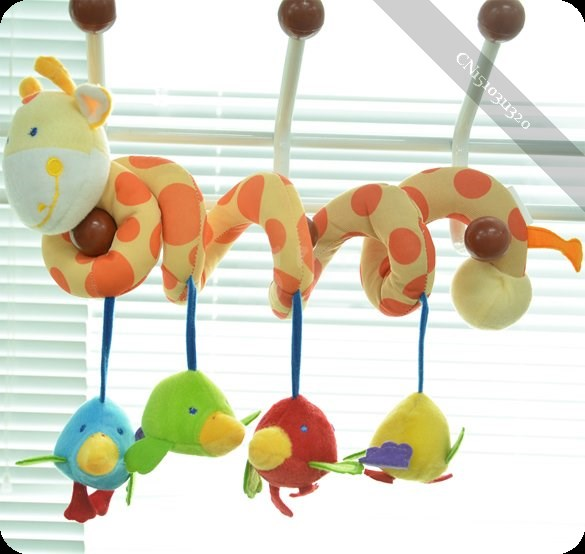 Baby Cute Music Multifunction Toy Kid Crib Round the Bed Hanging Bird(China (Mainland))