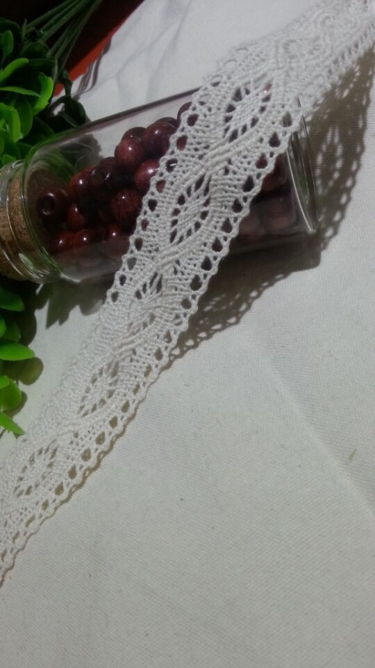 Laciness Accessories Cloth Material 20Yard Natural Color Lace Cotton LACE DIY Decoration Material Cord Lace Fabric LACE TRIM(China (Mainland))