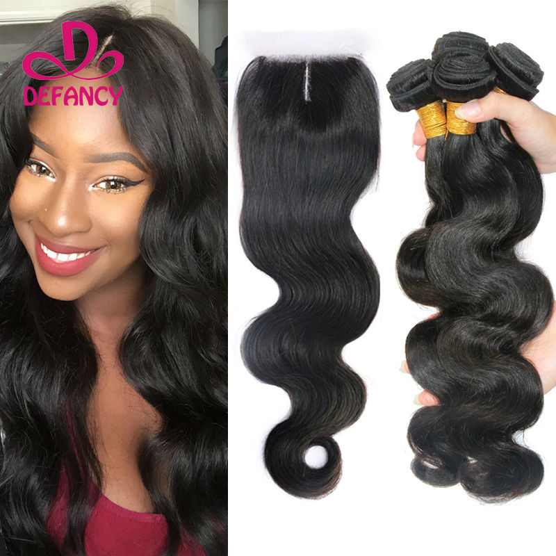 Malaysian Virgin Hair 5pcs Body Wave 3 Way Part Lace Closure with 4 bundles 6A Unprocessed Human Hair Extensions Free Shipping<br><br>Aliexpress