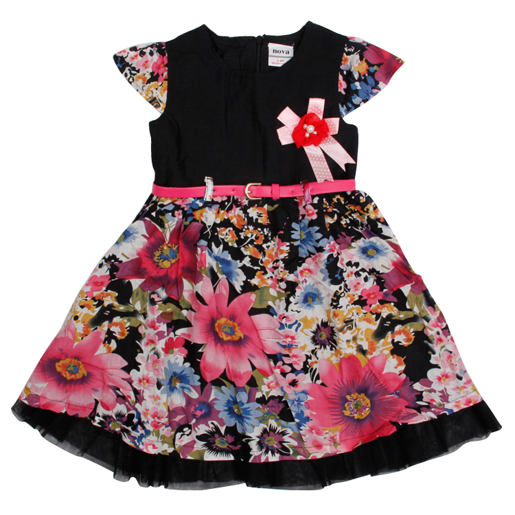 girl dress summer syle kids baby clothes nova brand 2016 cotton girls dresses