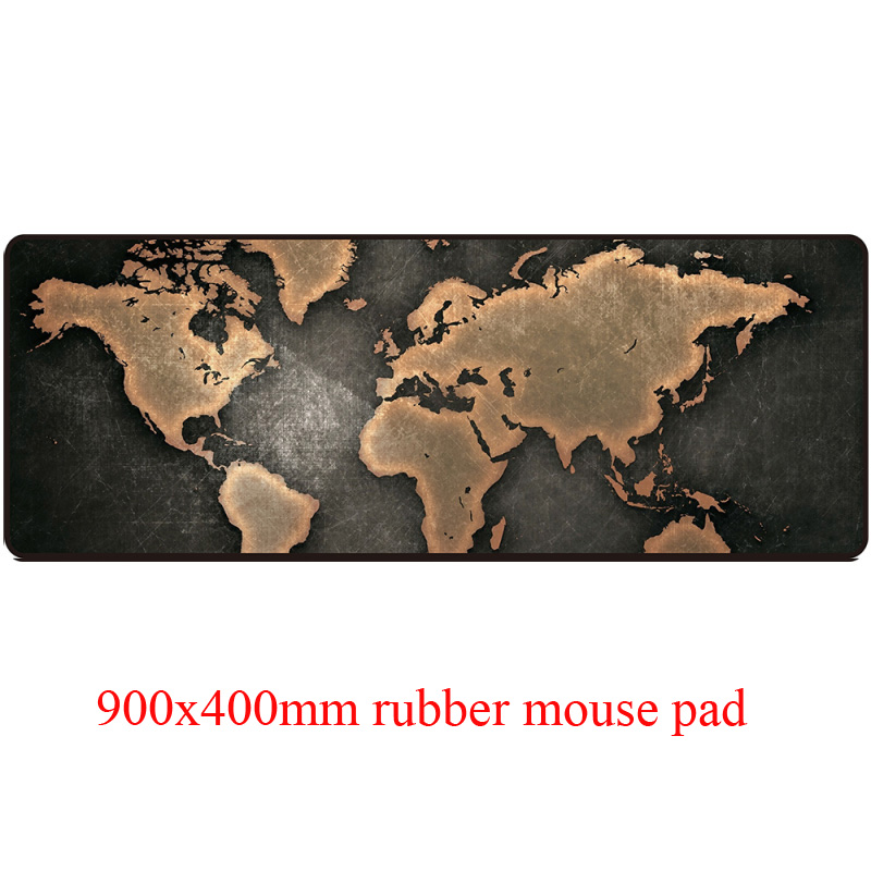 Classic world map style computer mouse pad with large size 900 x 400 mm and precise edge locking cartoon printings PC mouse mat(China (Mainland))